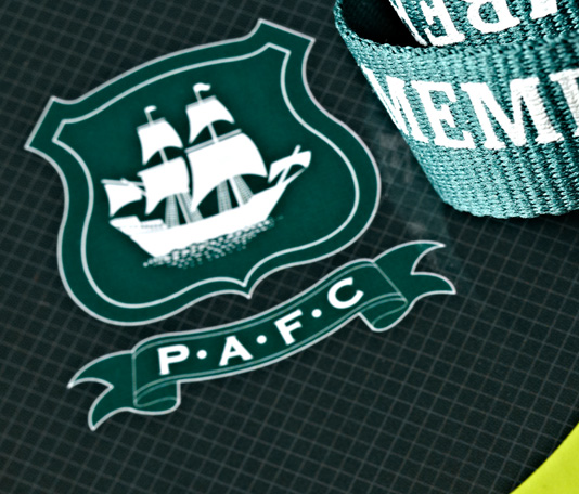 Plymouth Argyle FC logo printed onto membership pack