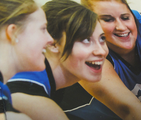 close up photo of animated young volleyball Plymouth Studio School players